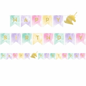 Sparkle Unicorn Party Banners 12 ct