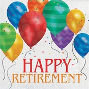 Balloon Blast Retirement Luncheon Napkins 192 ct