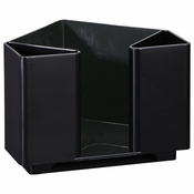 "5"" x 6.25"" x 4.25"" Black Napkins Bar Caddy 1 ct"