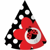 Red and black Ladybug Fancy Child Hats sold in quantities of 8 / pkg, 6 pkgs / case