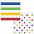 Multicolor Polka Dots and Stripes Luncheon Napkins 192 ct