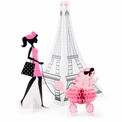 Paris Party Centerpieces 6 ct