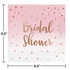 Rose All Day Bridal Shower Luncheon Napkins 192 ct