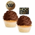 Black and Gold Sequin Cupcake Picks 144 ct