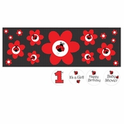 Ladybug Fancy Giant Banners 6 ct