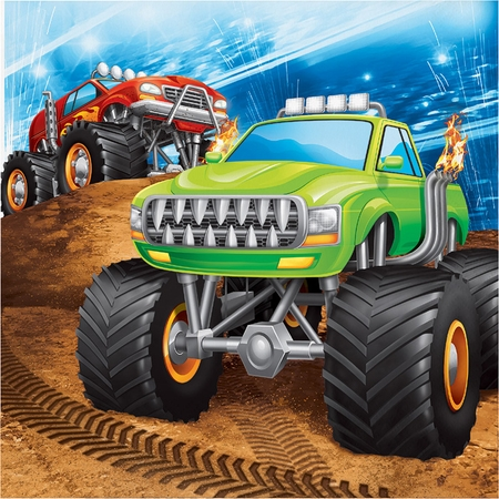 Monster Truck Luncheon Napkins 192 ct