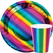 Rainbow Foil Party Supplies