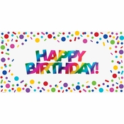 Rainbow Foil Happy Birthday Banners 12 ct