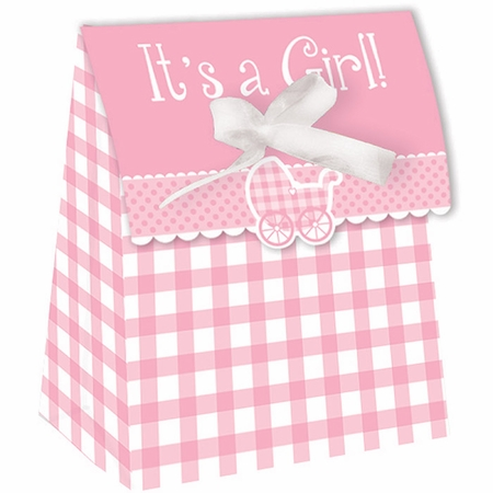 Its a Girl Gingham Favor Bags 72 ct