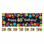 Balloons Birthday Party Banners 6 ct
