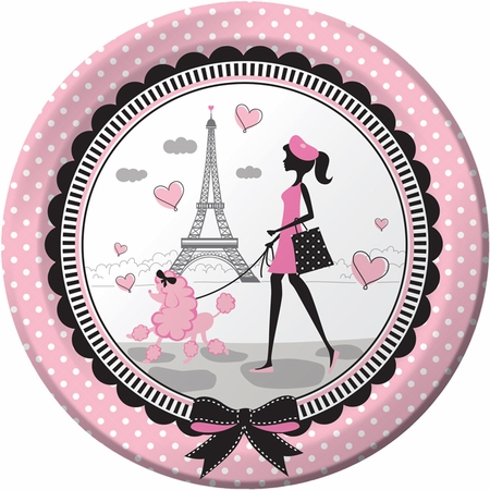 Paris Party Dinner Plates 96 ct