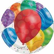 Balloon Blast Dinner Plates 96 ct