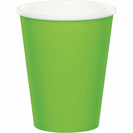 Fresh Lime Green 9 oz Hot & Cold Cups 96 ct