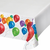 Balloon Blast Plastic Tablecloths 6 ct