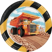 Big Dig Construction Dessert Plates 96 ct