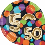 Balloons 50th Birthday Party Supplies