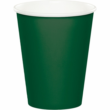 Touch of Color Hunter Green 9 oz Hot & Cold Cups in quantities of 24 / pkg, 10 pkgs / case