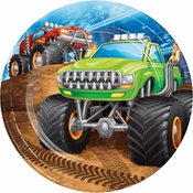 Monster Truck Dessert Plates 96 ct