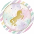 Sparkle Unicorn Dinner Plates 96 ct