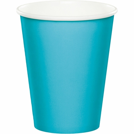Touch of Color Bermuda Blue 9 oz Hot & Cold Cups 240 ct in quantities of 24 / pkg, 10 pkgs / case