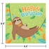 Sloth Party Happy Birthday Luncheon Napkins 192 ct