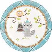 Happi Woodland Boy Dessert Plates 96 ct