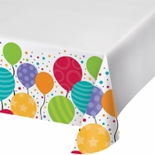 Shimmering Balloons Plastic Tablecloths 12 ct