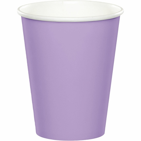 Touch of Color Luscious Lavender 9 oz Hot & Cold Cups in quantities of 24 / pkg, 10 pkgs / case