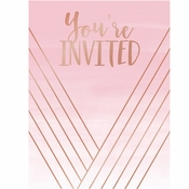 Rose All Day Invitations 48 ct