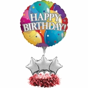 Happy Birthday Balloon Centerpieces 4 ct