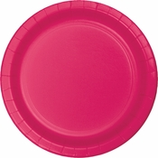 Touch of Color Hot Magenta Dinner Plates in quantities of 24 / pkg, 10 pkgs / case