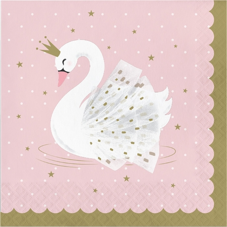 Stylish Swan Luncheon Napkins 192 ct