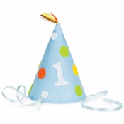 1st Birthday Boy Felt Hats 6 ct