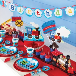 All Aboard 1st Birthday Party Supplies