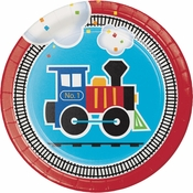 All Aboard Train Dessert Plates 96 ct