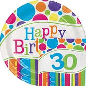 Bright And Bold 30th Birthday Party Supplies