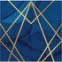Navy Blue and Gold Foil Luncheon Napkins 192 ct