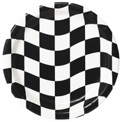 Black and White Check Dessert Plates 96 ct