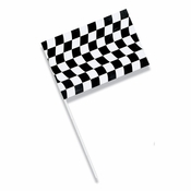 Black and White Check Plastic Flags 12 ct