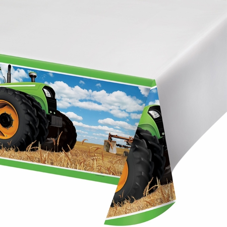 Tractor Time Plastic Tablecloths 6 ct