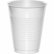 White 16 oz Plastic Cups 600 ct