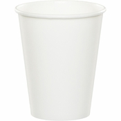 White 9 oz Hot & Cold Cups 96 ct