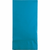 Touch of Color Turquoise 3 Ply Guest Towels in quantities of 16 / pkg, 12 pkgs / case