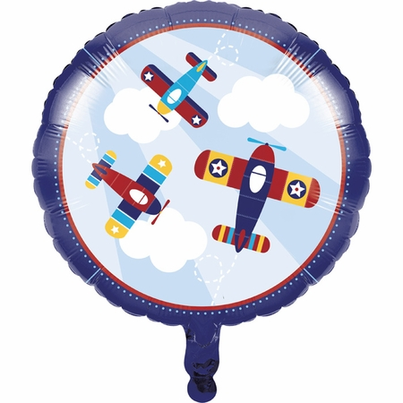 Toy Airplane Mylar Balloons 10 ct