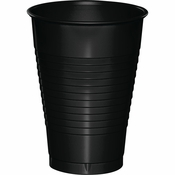 Touch of Color Black Velvet 12 oz Plastic Cups in quantities of 20 / pkg, 10 pkgs / case