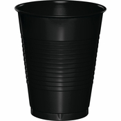 Touch of Color Black Velvet 16 oz Plastic Cups in quantities of 20 / pkg, 10 pkgs / case
