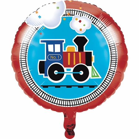 All Aboard Mylar Balloons 10 ct