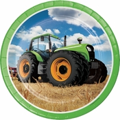 Tractor Time Dinner Plates 96 ct