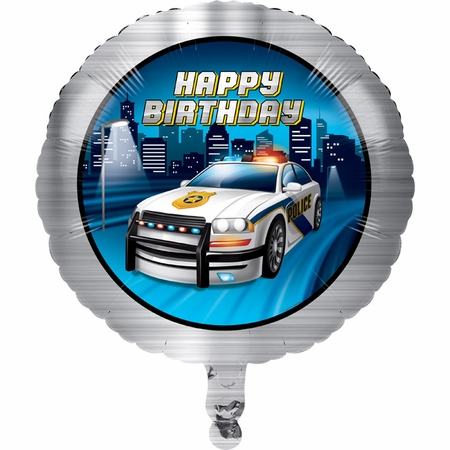Police Party Mylar Balloons 10 ct