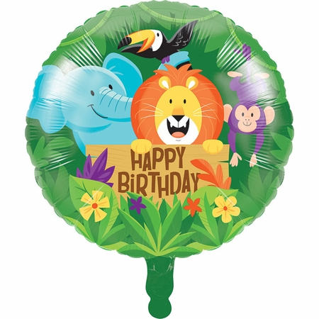 Jungle Safari Mylar Balloons 10 ct
